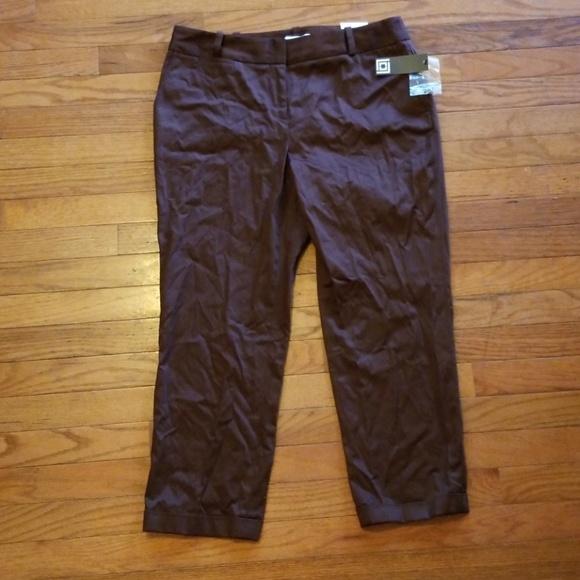 ab3ae43d369 Liz Claiborne Crop Dress Pants Chocolate Size 10